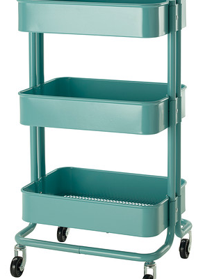 Ikea Raskog Cart in Turquoise Blue