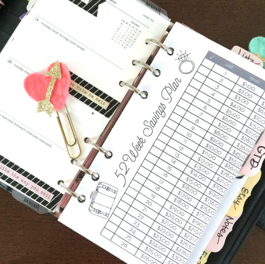 Happy As Annie Free Download 52 Week Savings Plan Planner Printable