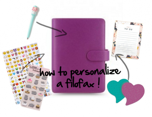 YouTube Video on How to Personalize and Customize a Filofax Planner