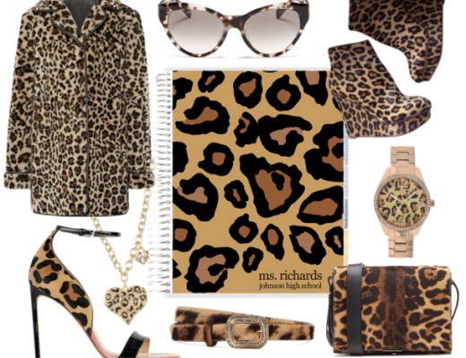 Planner Girl Style Animal Print Leopard Print Planner Accessories