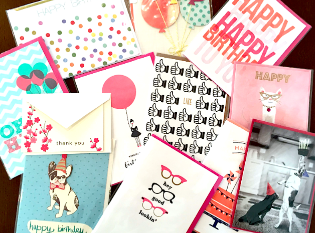 buy greeting cards before you need them.  happy as annie, Birthday card