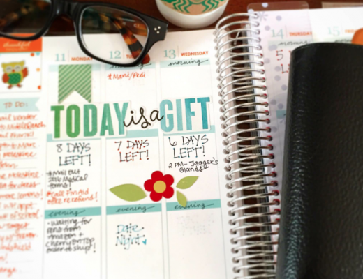 Erin Condren Life Planner with Filofax Finsbury, Glasses, and Starbucks