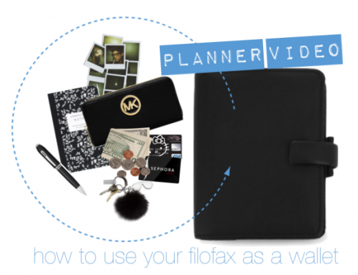 Planner Video How to use your Filofax as a Wallet