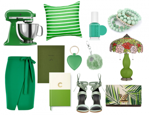 St. Patrick's Day Green Collage