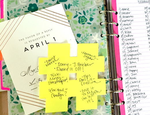 Wedding Planning in Filofax