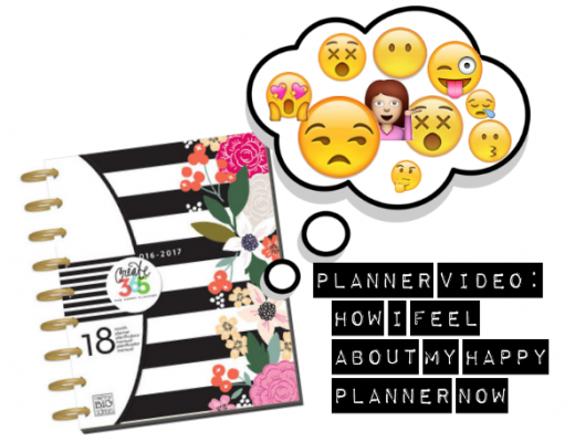 Happy Planner with Mixed Emojis in Thought Bubble