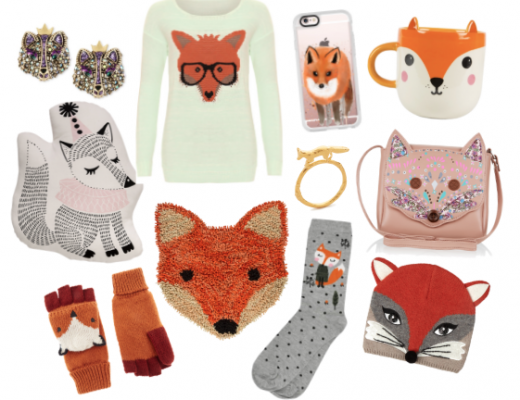 Happy As Annie Trendy Tuesday Flay Lay Collage of Trendy Fox Fashion Apparel and Accessories