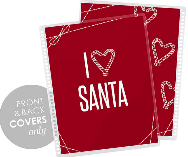 Erin Condren Life Planner Interchangeable Cover I Love Santa