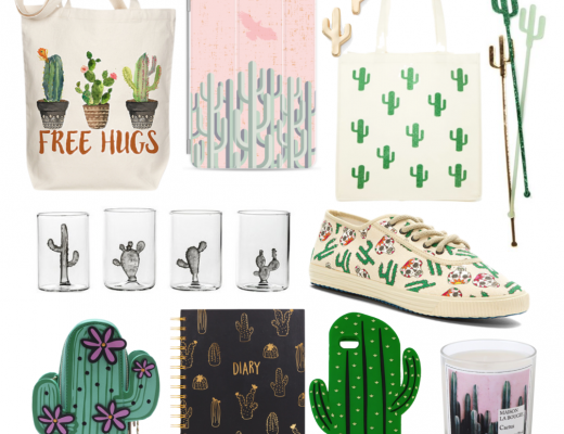 Happy As Annie Trendy Tuesday Flat Lay Collage for Cactus and Cacti Apparel, Home Goods, Stationery, and Planner Accessories