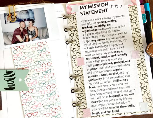 Why should you have a personal mission statement? Learn what it is, how to come up with one, and why I keep it in my daily planner.