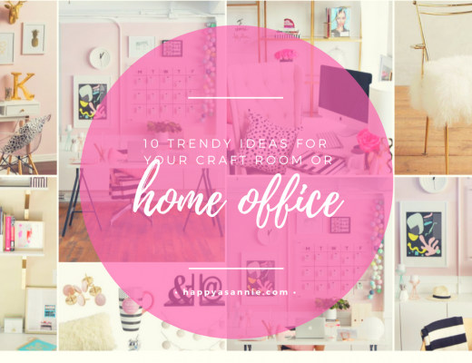 Happy As Annie 10 Trendy Ideas for Decorating Home Office or Craft Space Pinterest Board