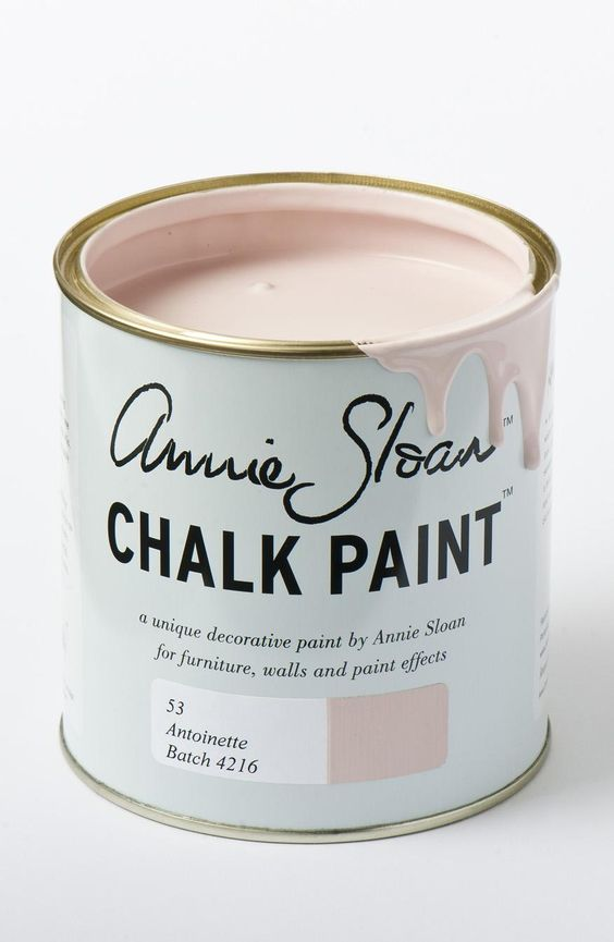 Home Office Trends Annie Sloan Pale Pink Chalk Paint in Antoinette
