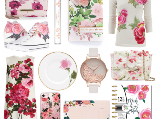 Springtime means florals! Some fashion, home, stationery, and planner goodies that embrace the floral love. Including Kate Spade, Converse, and The Happy Planner.