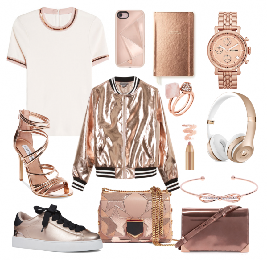 Rose Gold Trend Fashion Stationery and Accessories Shopping
