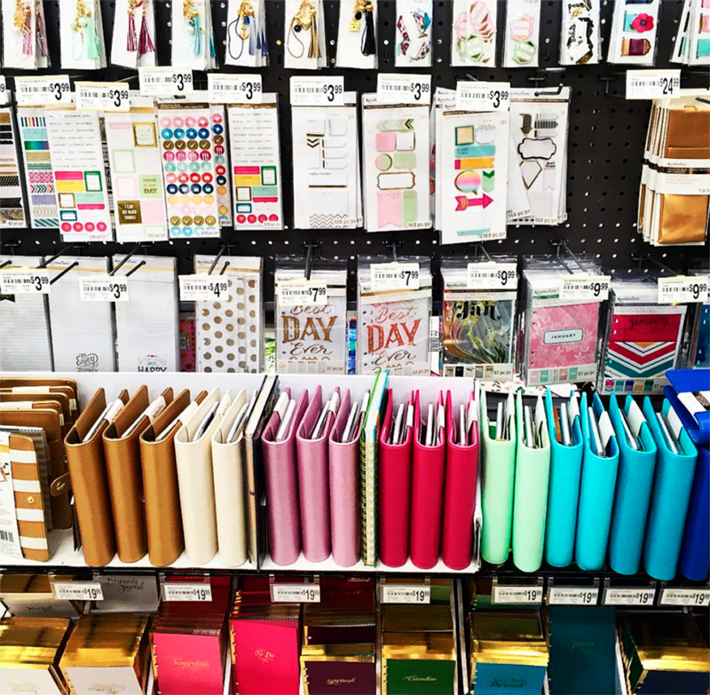 Display of Recollections Planners and Accessories at Michaels