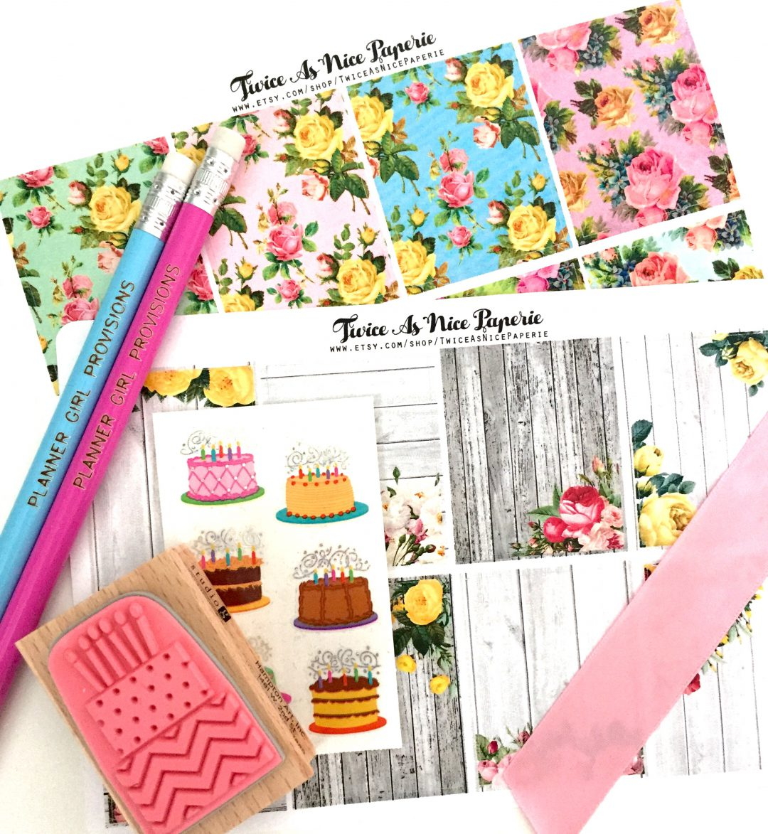Full Box Stickers for Erin Condren Life Planner by Etsy Shop Twice As Nice Paperie along with other stamps stickers and planner accessories from Planner Girl Provisions