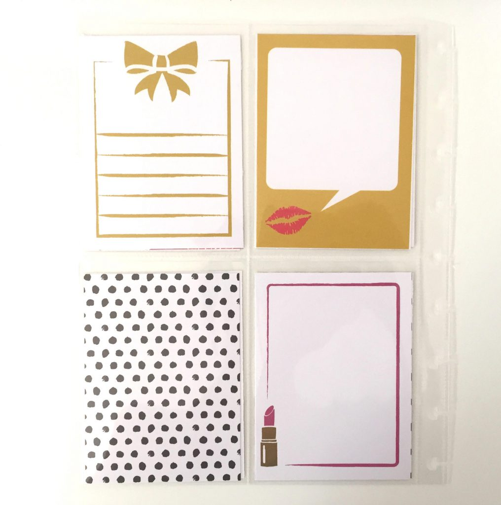 Journaling Cards in Happy Planner Clear Pocket Pages