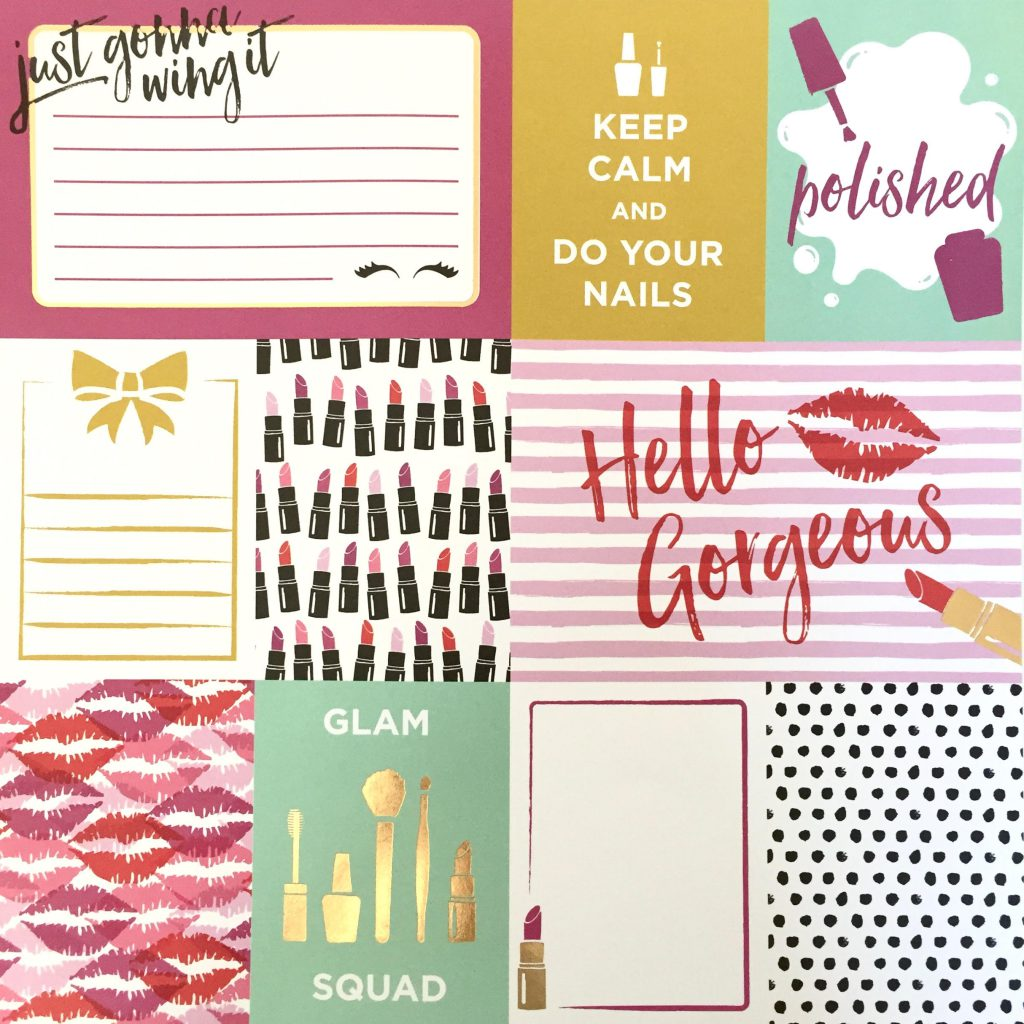 Journaling Cards from Michaels' Get Glam Paper Pack