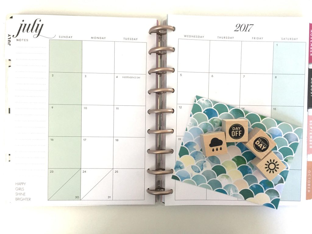 What to do with the Monthly View in your Happy Planner