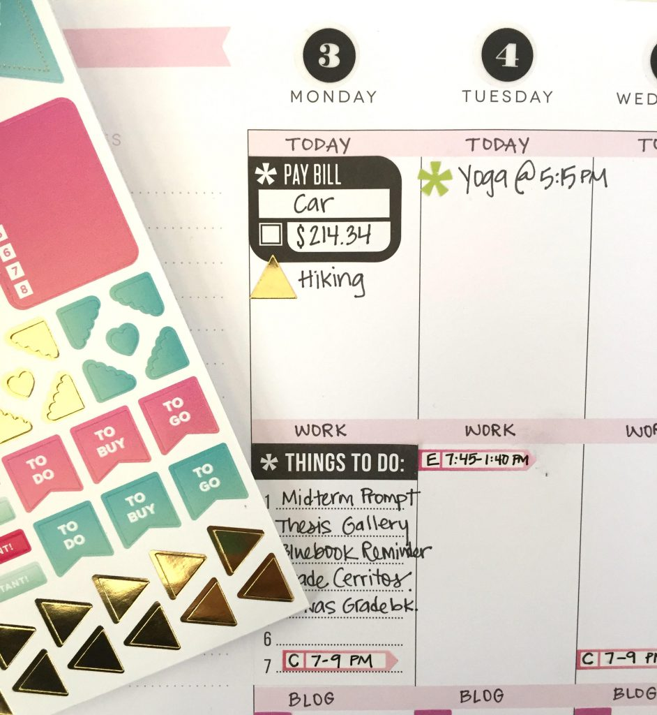 Happy Planner Weekly To Dos
