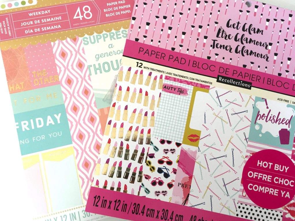 Use Scrapbook Paper to Make Goal Cards for your Happy Planner.