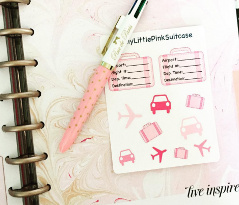 Use Code PGP35 for 35% off your purchase of planner stickers from MyLittlePinkSuitcase on Etsy.
