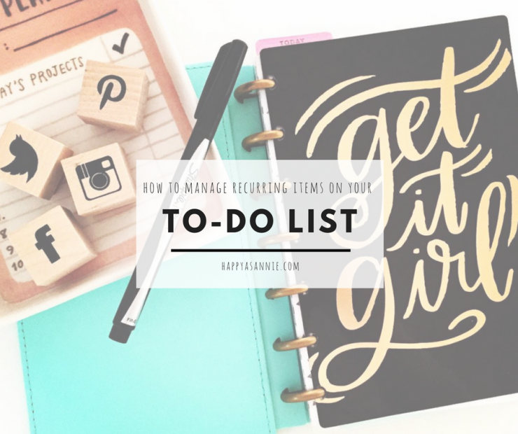 How to Manage Repeating Items on Your To-Do List
