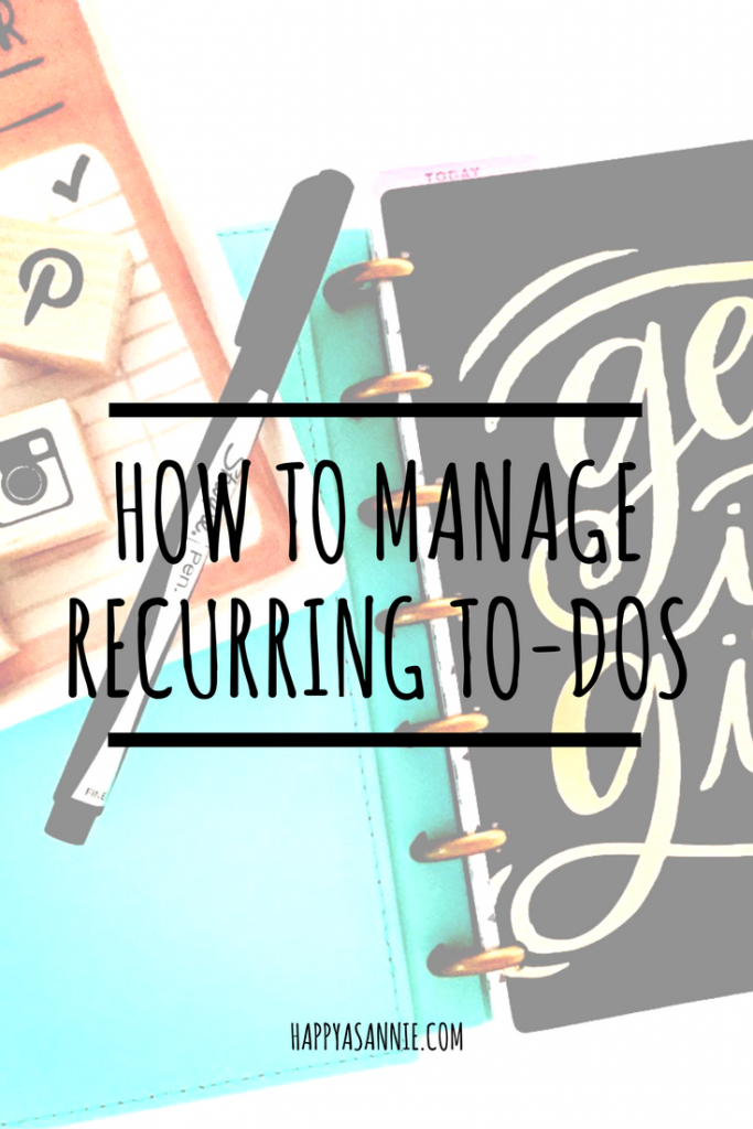 How to Manage Recurring To Dos