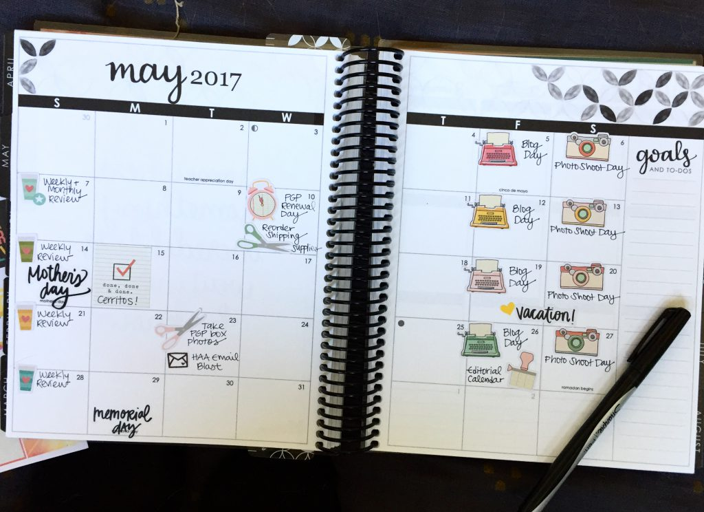 Use a Planner to Manage Recurring Items on Your To-Do List