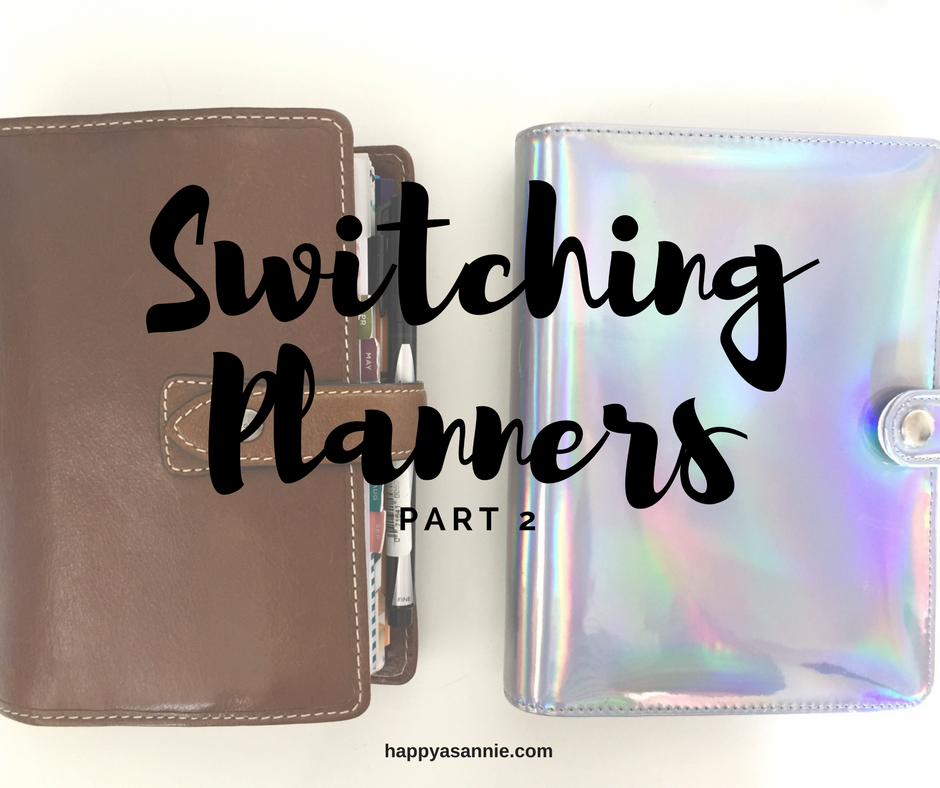 Happy As Annie Switching Planners, Part 2: Moving Into My Recollections Planner