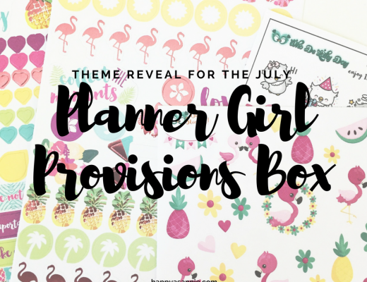 Reveal of the Planner Girl Provisions box theme!