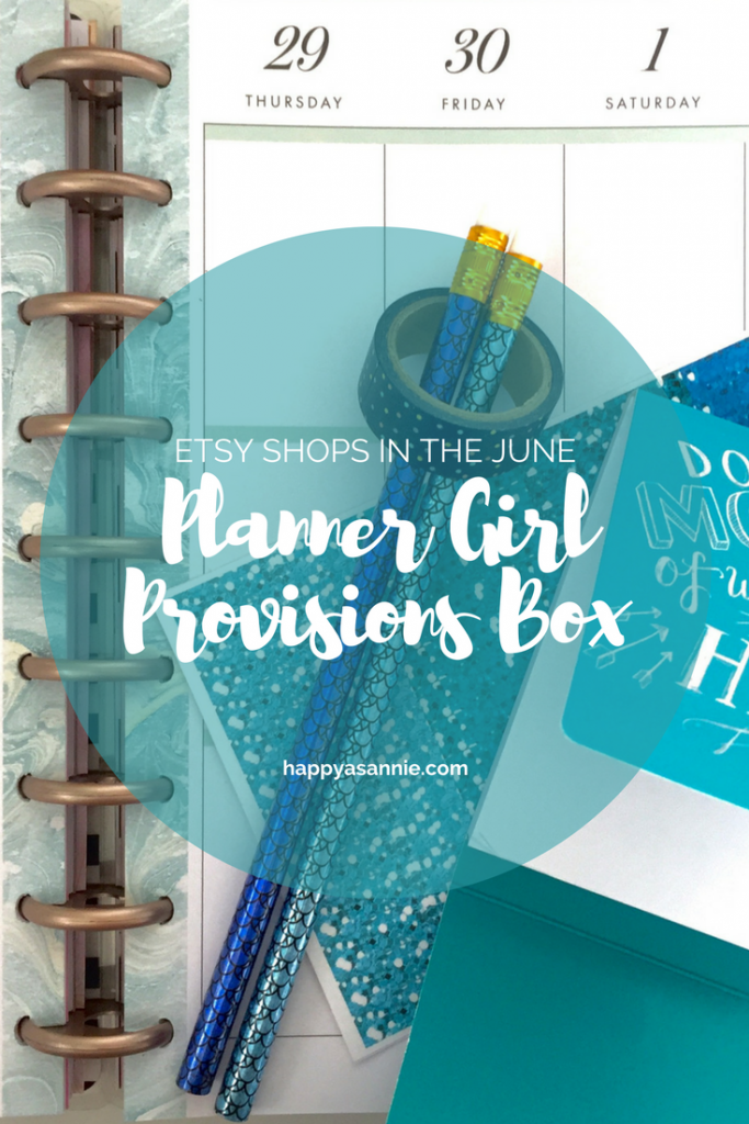 """Check out which Planner Sticker Shops on Etsy were featured in the June """"Mermaid Off Duty"""" Planner Girl Provisions box!"""