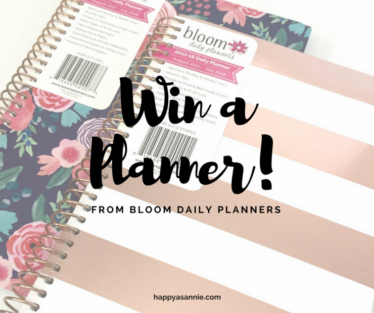 PLANNER GIVEAWAY: Win a Planner (and stickers!) from Bloom Planners on HappyAsAnnie.com!