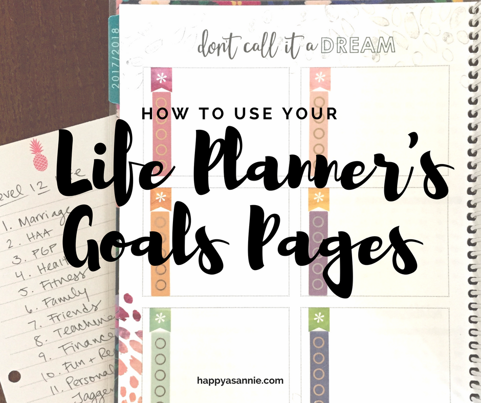 How to use the goals pages of your Erin Condren Life Planner