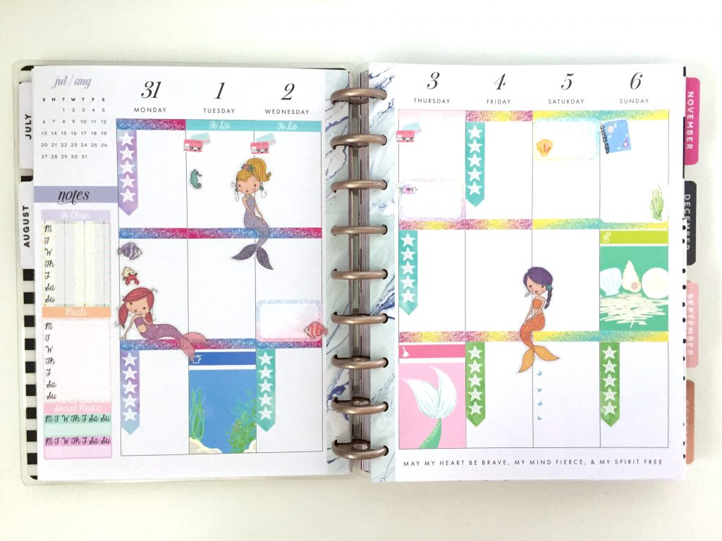 In my current planning system, the weeky pages of my Happy Planner are the only ones that see major sticker action.