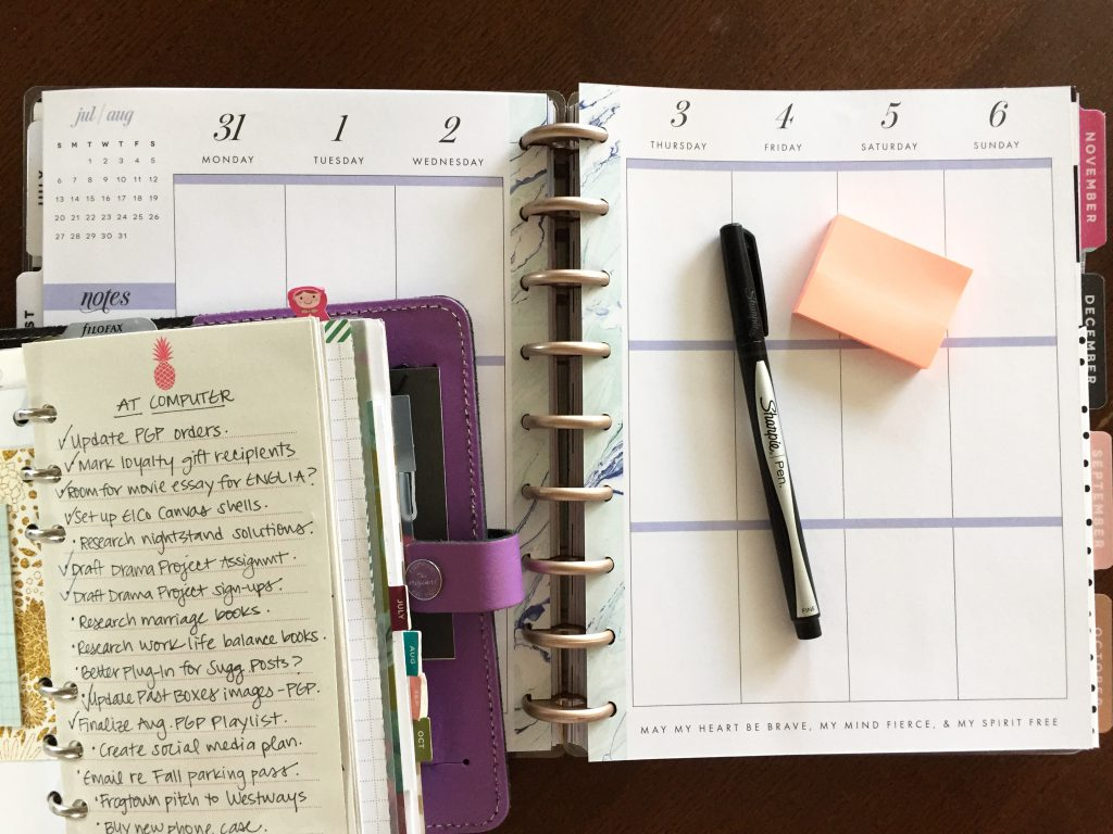 My Multi-Planner Planning System: Step 2 is to assign time-specific or urgent to-dos to appropriate days in my Happy Planner.