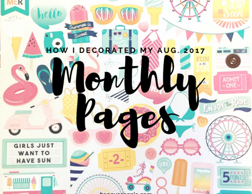 How I Decorated the August Monthly Pages in my Erin Condren Life Planner using washi tape and some summer themed scrapbook stickers.
