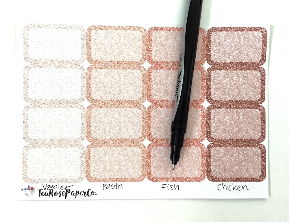 How to Use Half Box Planner Stickers for Meal Planning