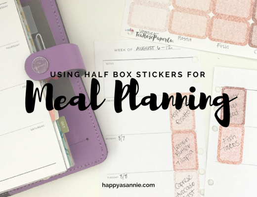 Using Planner Girl Provisions Stickers to Meal Plan