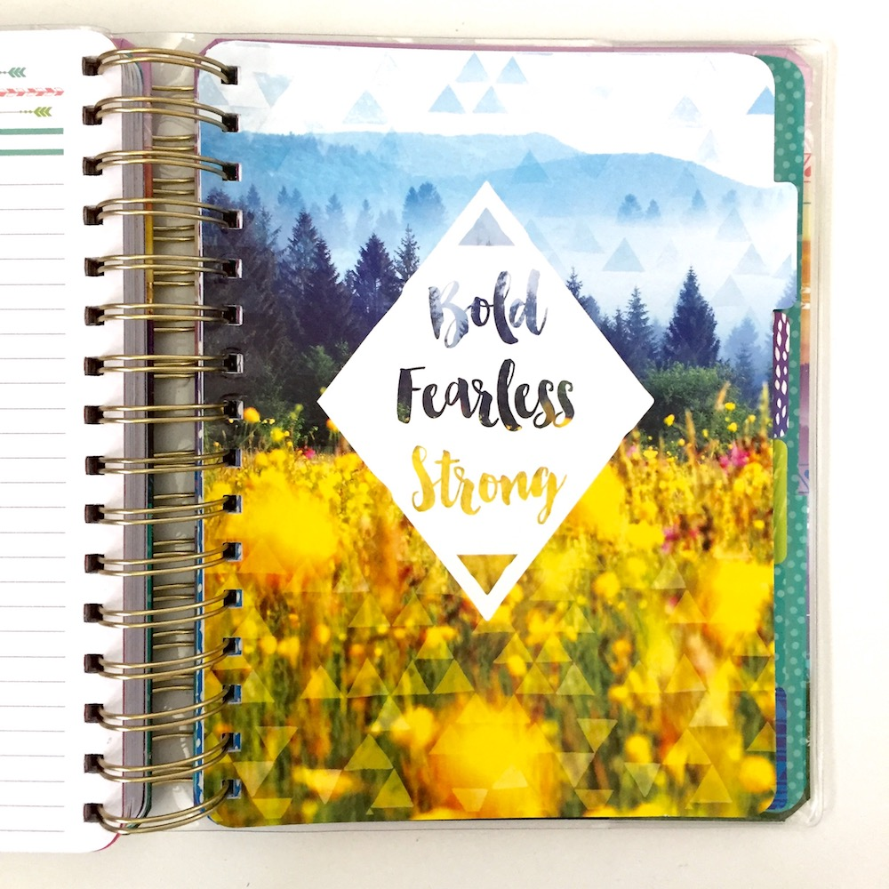All the dividers in the Live Bold planner by Paper House feature some natural inspired artwork.