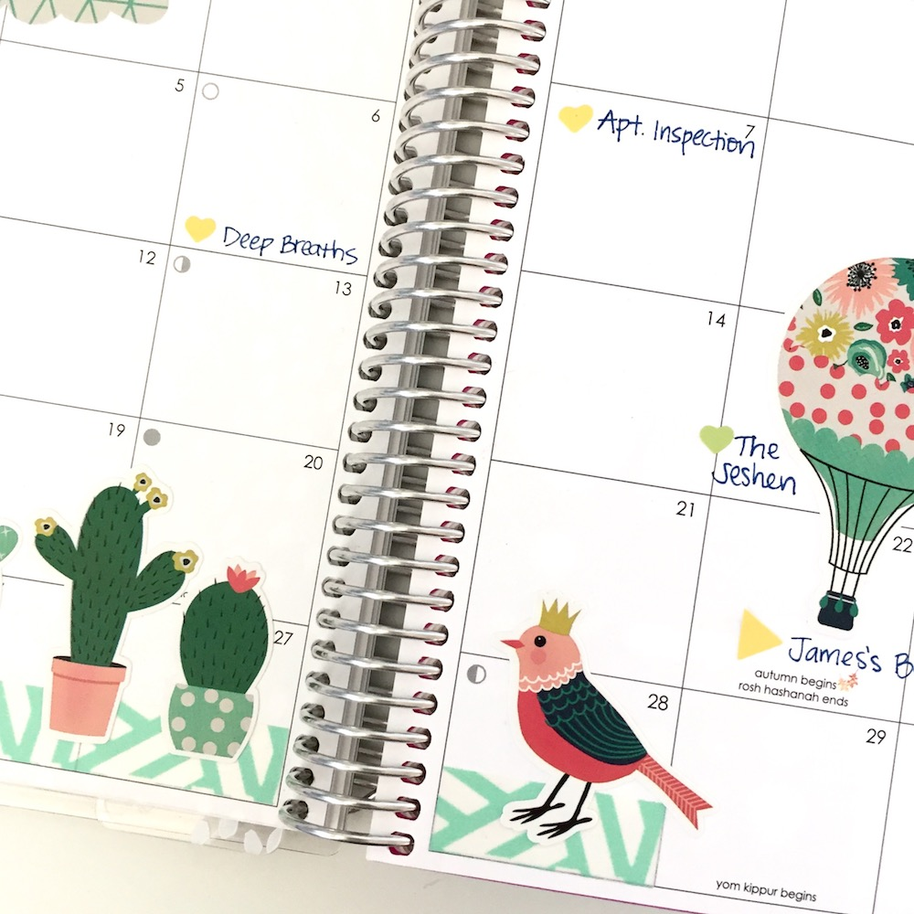 September Monthly Pages in My Erin Condren Life Planner
