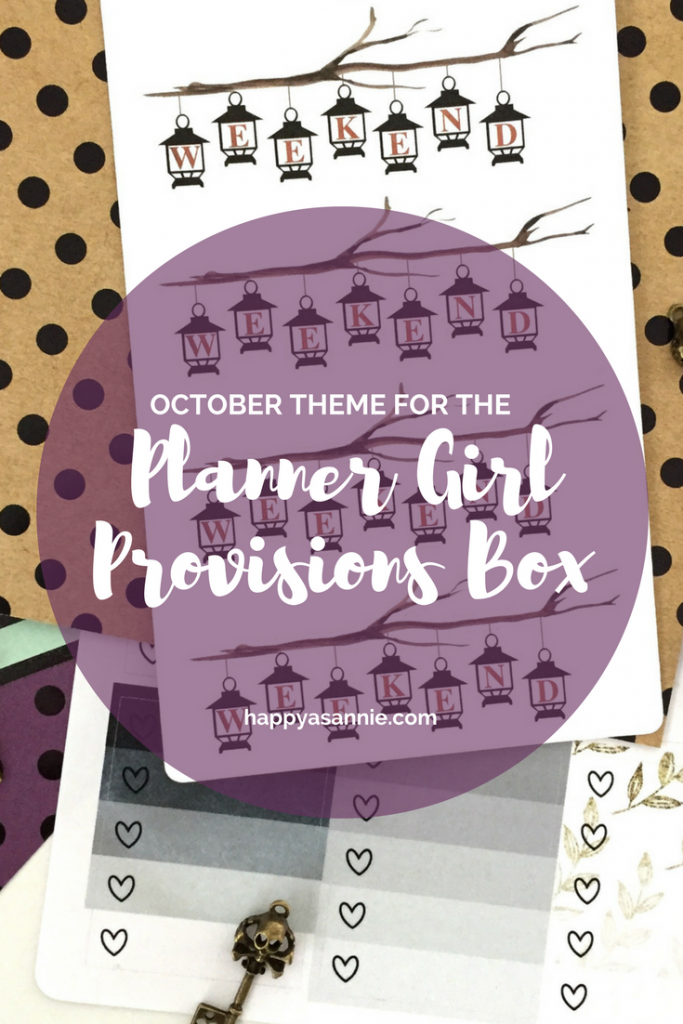 """The theme for the October Planner Girl Provisions Box is...""""Something Wicked""""!"""