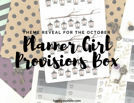 "The theme for the October Planner Girl Provisions Box is...""Something Wicked""!"