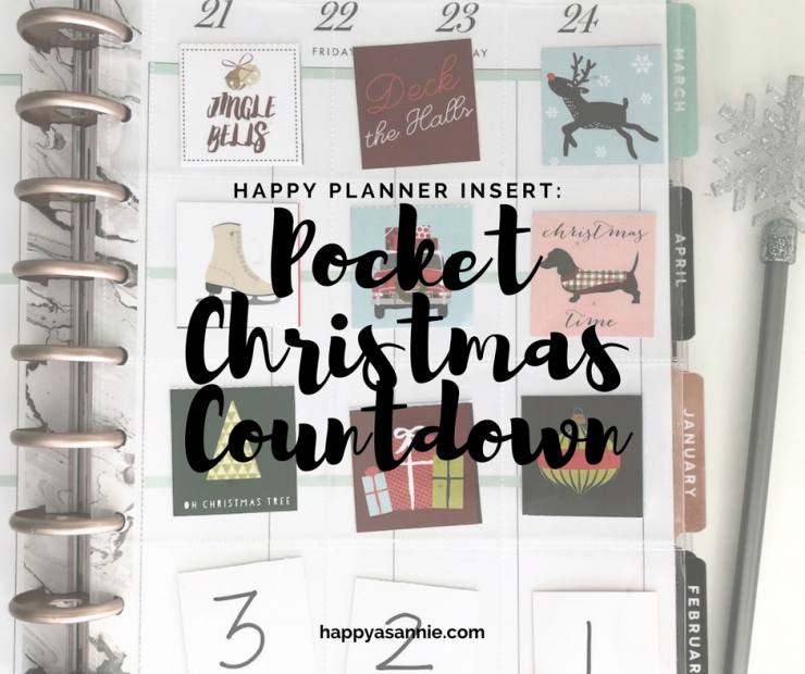 Add a Christmas Countdown to your Happy Planner!