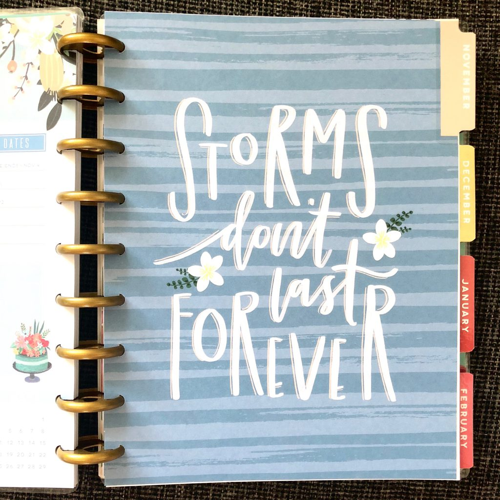 November divider in my new 2018-19 classic size Happy Planner