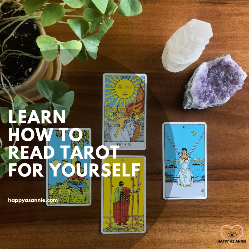 Intrigued by all the tarot cards you've been seeing everywhere lately? Tarot is a powerful (and easy to learn!) tool to help us tap into our inner wisdom and intuition. In this post, I share my journey with tarot and show you how you can start learning how to read tarot for yourself right away. Happy As Annie | How to Read Tarot for Yourself