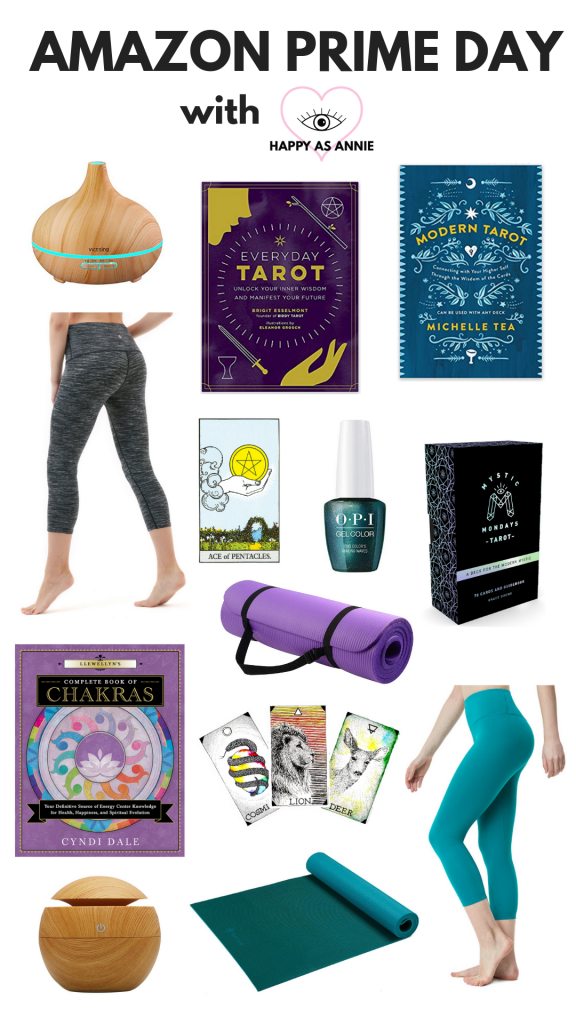 My favorite yoga, meditation, and tarot finds on Amazon, right in time for Amazon Prime Day on July 15 and 16, 2019. Happy As Annie | An Intuitive's Guide to Amazon