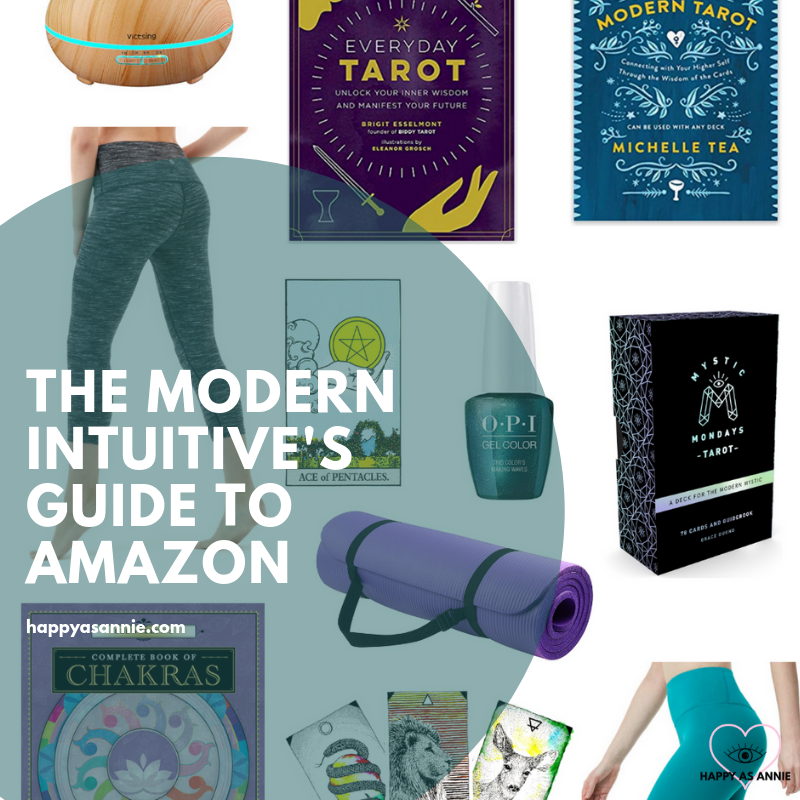 You don't have to frequent dusty old occult shops and used book stores for tarot decks and crystals and other intuitive needs. Sometimes, Amazon is where it's at for the modern mystic and intuitive! Happy As Annie | The Modern Intuitive's Guide to Amazon