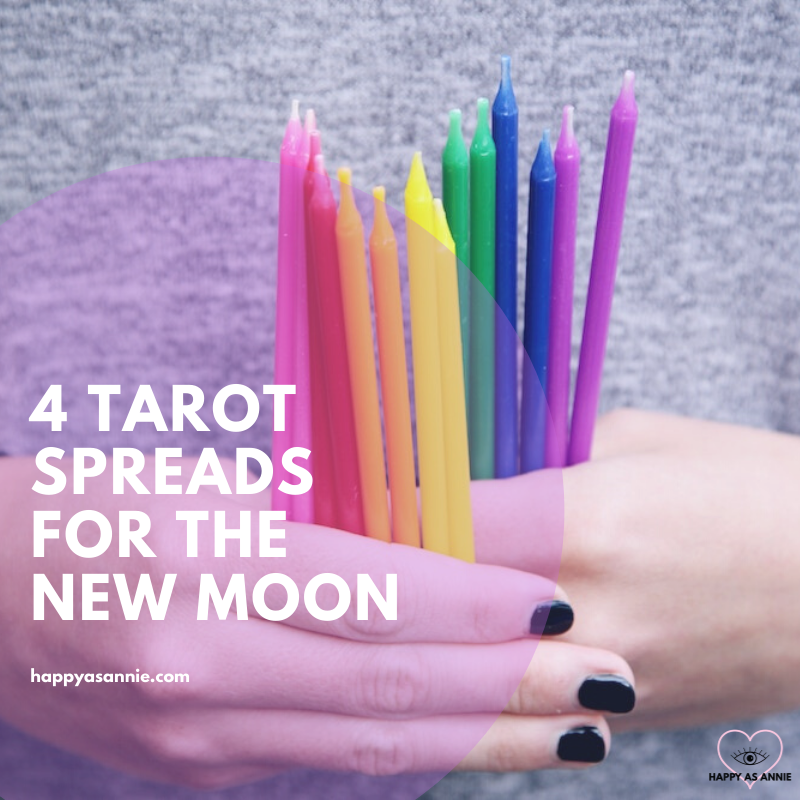 Happy As Annie | Four Tarot Spreads for the New Moon