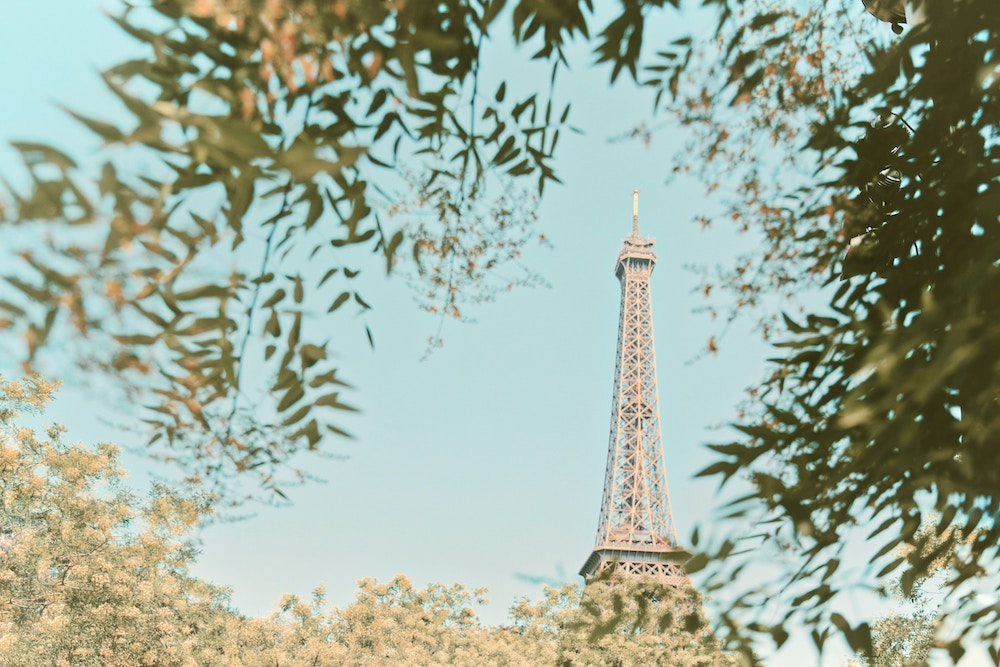 Set Better Goals: The One Question to Ask Yourself to Set More Aligned Goals   Happy As Annie   How to Set Better Goals (Eiffel Tower against blue sky visible in distance through trees)